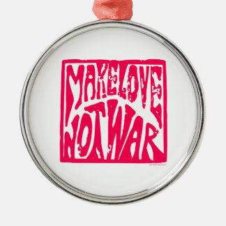 Love, Not War Christmas Ornament