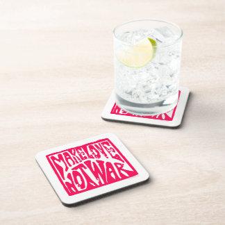 Love Not War Drink Coaster
