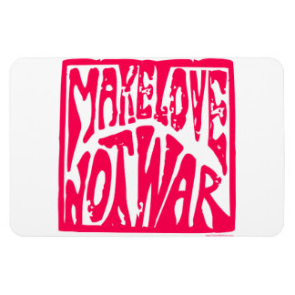 Love, Not War Rectangular Magnet