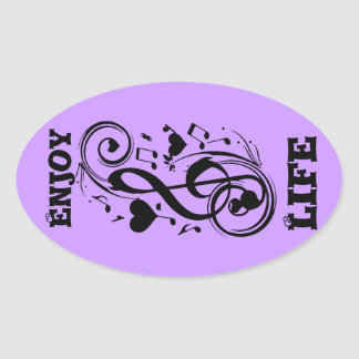 Love Note,Forever Yours_ Oval Sticker