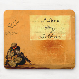 Love Note on the Wall Military Soldier Mouse Mat