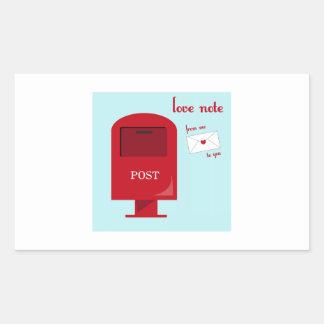 Love Note Rectangular Sticker