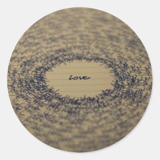Love Note Round Sticker