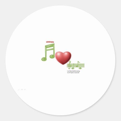 Love Note Round Stickers