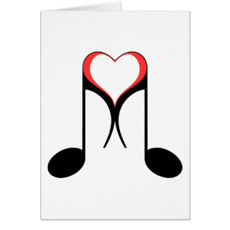 love notes : 8th note : greeting card