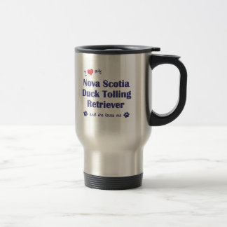 Love Nova Scotia Duck Tolling Retriever (Female) Stainless Steel Travel Mug