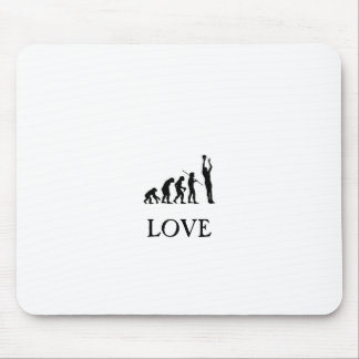 Love of basketball mouse mat