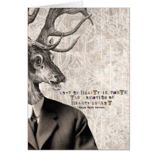 Love of Beauty Vintage Deer Digital Art Card