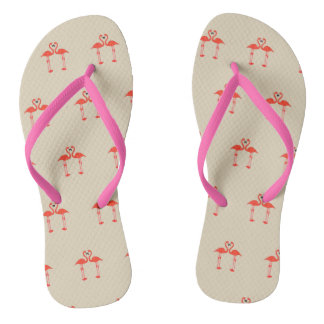 Love of flamingos flip flops