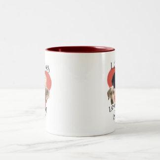 Love of Labs Red & White mug