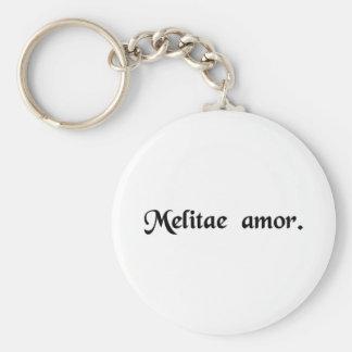 Love of Malta. Basic Round Button Key Ring