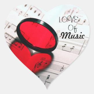 Love Of Music Heart Sticker