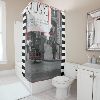 Love of Music & Nostalgia Shower Curtain