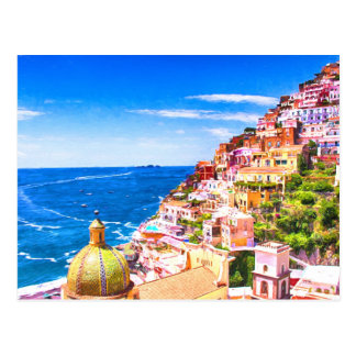 Love Of Positano Italy Postcard