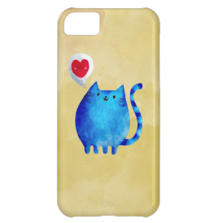 Love of The Blue Kitty Cat Case For iPhone 5C