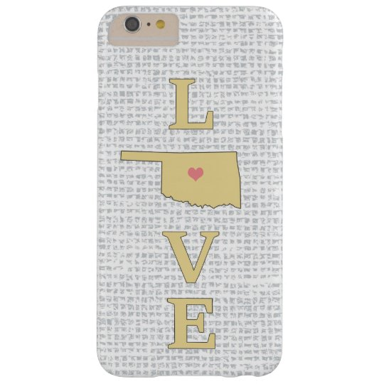 LOVE Oklahoma State Map moveable heart Barely There iPhone 6 Plus Case