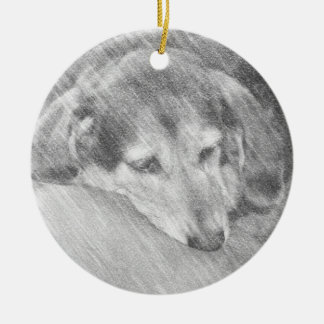 Love Old Dogs Ornament