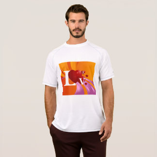 Love On A Colourful Background Mens Active Tee