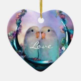 Love On A Moon Swing Holiday Ornament