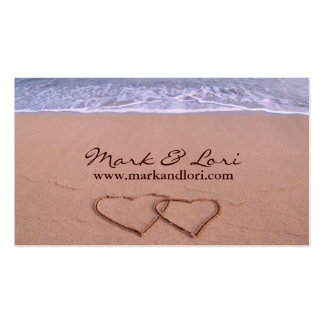 Love on the beach pack of standard business cards