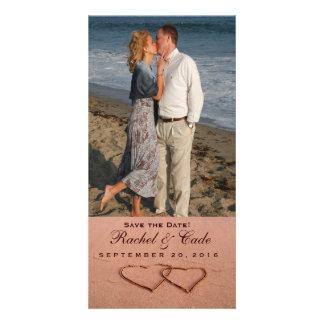 Love on the beach photo template customized photo card