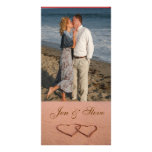 Love on the beach photo template picture card