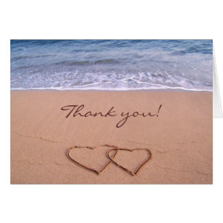 Love on the Beach Thank you Card