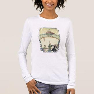 Love on the Bridge, illustration for 'Fetes Galant Long Sleeve T-Shirt