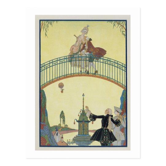 Love on the Bridge, illustration for 'Fetes Galant