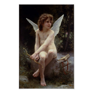 Love on the Lookout by William Bouguereau Poster