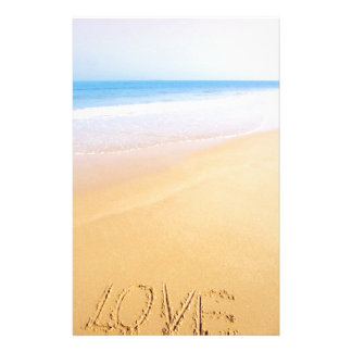 Love on the sand, photo customised stationery