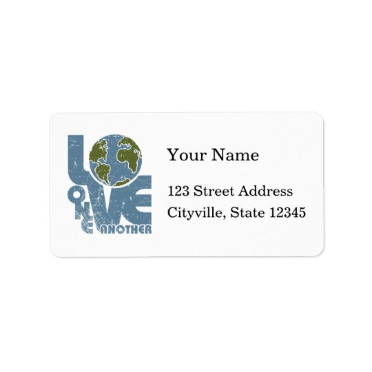 Love One Another Address Label
