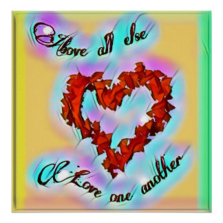 Love one another bright poster