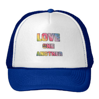 Love One Another Peace Cap