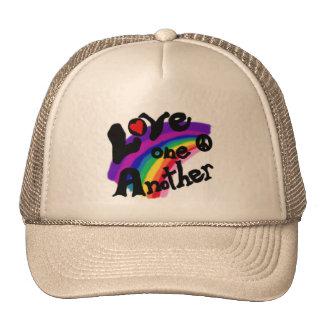 Love One Another Rainbow Cap