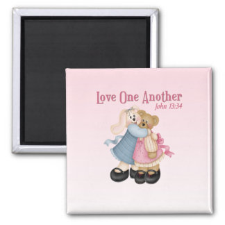 Love One Another Square Magnet
