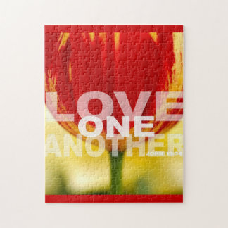 Love One Another Tulips Jigsaw Puzzle