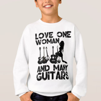 Love One Woman and Many Guitars T Shirt