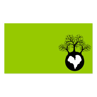 LOVE OUR EARTH PLANET LOGO SYMBOL CAUSES MOTIVATIO BUSINESS CARDS