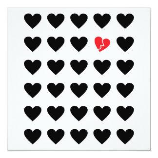 love outcast 13 cm x 13 cm square invitation card