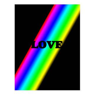 Love Over Rainbow in Black Postcard