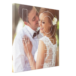 LOVE Overlay Custom Photo Canvas