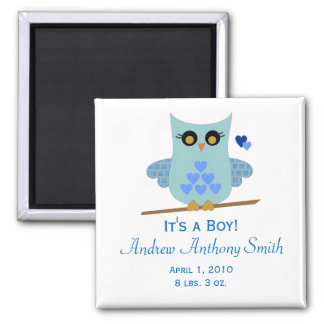 Love Owl Boy Magnet