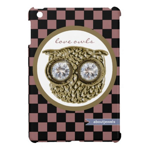 Love owl -  checkered patterns cover for the iPad mini
