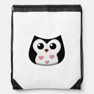 Love Owl Drawstring Backpack