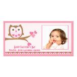 Love Owl Valentine's Day Photo Card