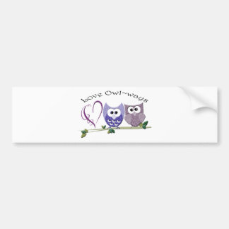 Love Owl~ways, cute Owls art gifts Bumper Sticker