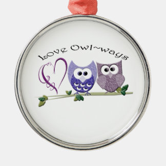 Love Owl~ways, cute Owls art gifts Christmas Ornament