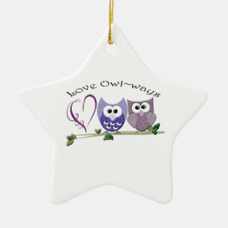 Love Owl~ways, cute Owls art gifts Christmas Ornament