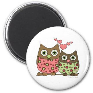 Love Owls 6 Cm Round Magnet
